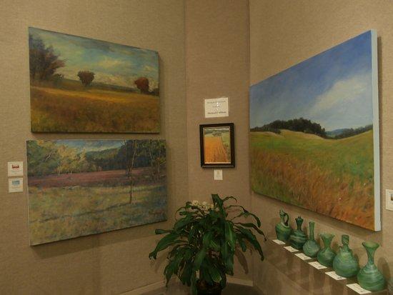 Saper Galleries and Custom Framing : Michael Callihan paintings in east gallery