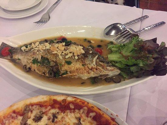 Sala Rossa Italian Restaurant: baked seabass
