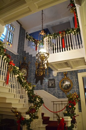 Geneseo, NY: 3 floors of Wadsworth Homestead decorated for Christmas