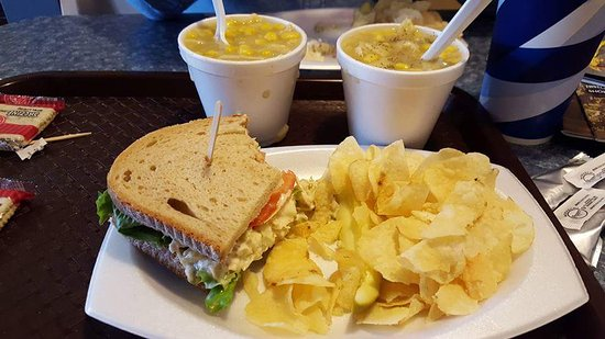 Strasburg Creamery: Chicken Salad Sandwich & Cup of Cream of Chicken Soup