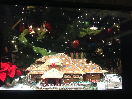 Crown Isle Resort & Golf Community: One of the gingerbread creations on display for bidding.