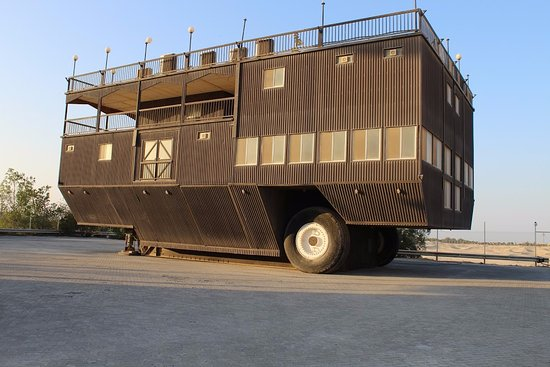 Emirates National Auto Museum : World's largest 2 wheel caravan