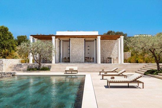 Kranidi, Hellas: Amanzoe Terrace and Pool - 5 Bedroom Villa
