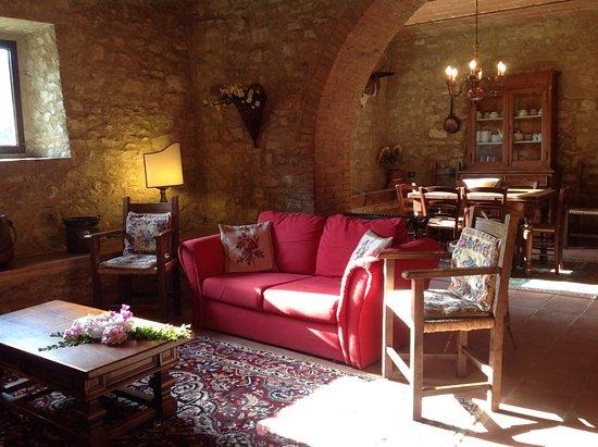 Pergine Valdarno, Itália: Villa La Collina . Il Salotto