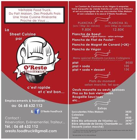 OResto FoodTruck Dijon Bourgogne Franche Comt