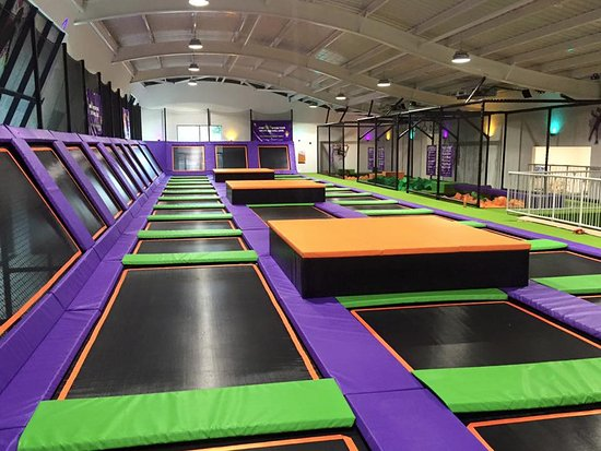 Luton, UK: Trampolines everywhere! Hours of bouncing fun to be had.
