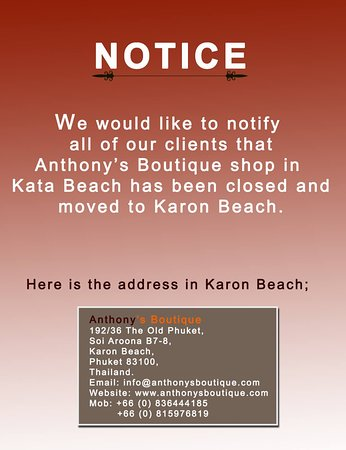 Anthony Boutique Kata Beach