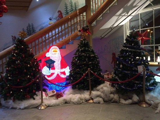 santa claus holiday village reception entrance