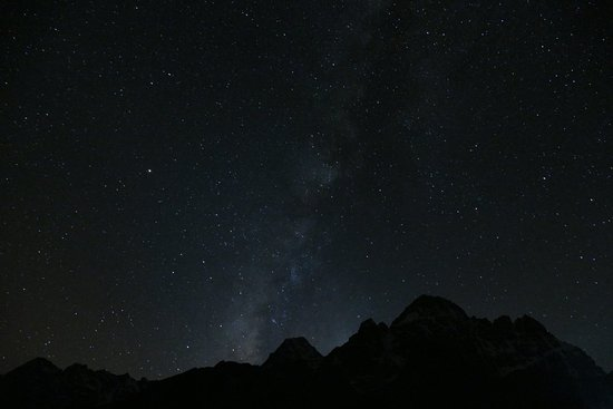 night sky in the himalayas perfect place for astrophotography