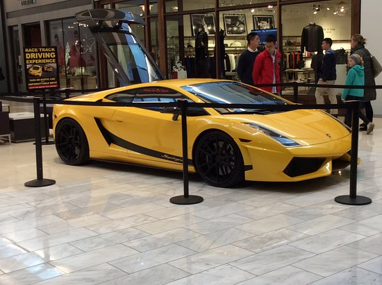 Lamborghini inside the mall Picture of King of Prussia Mall King