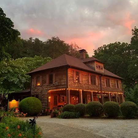 Setting Sun over Beechwood Inn