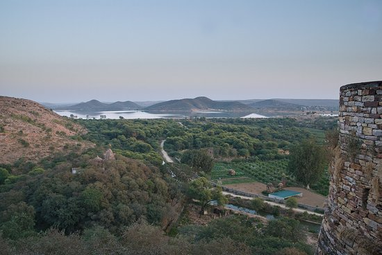 Ramathra Fort: View from walls towards lake