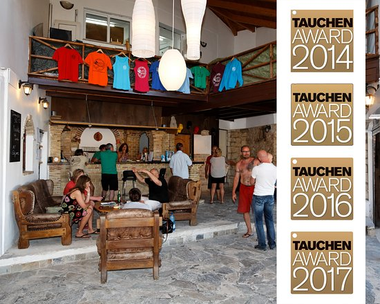 """Limni Keri, Grecja: Unsere Lobby & das """"Dive Inn"""""""
