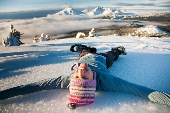 Bend, OR: Snow Angels on Tumalo Mountain
