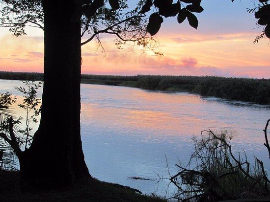 Xaro Lodge: Sunset on the Okavango