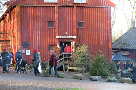 Lycke, Sweden: Julmarknad i nära Tofta Herrgård..