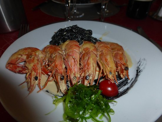 Gambas aux linguinis l 39 encre photo de le port de for Restaurant parempuyre