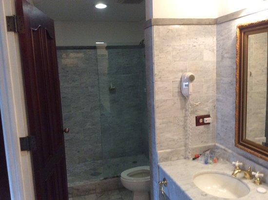 Hotel DeVille: Shower area