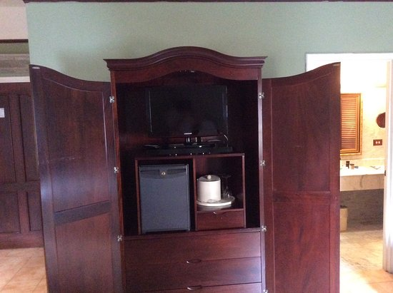 Hotel DeVille: Tv and fridge in armoire