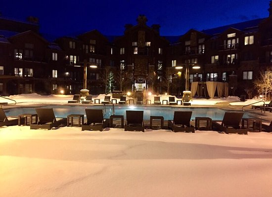 Waldorf Astoria Park City: View from the hot tub.