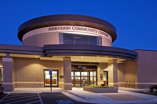 Herndon Community Center Building entrance