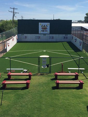 Grumps Burgers: Wiffle Ball Field - complete with spectator benches