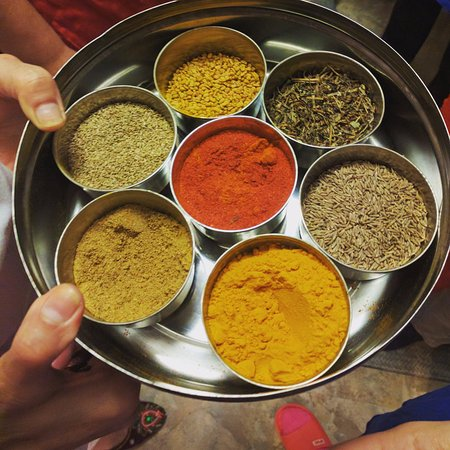 Rachana\'s Nepali spice tray at League of Kitchens cooking class ...