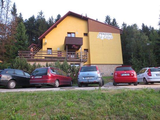 Horni Becva, Tsjechië: parkoviště přímo u penzionu