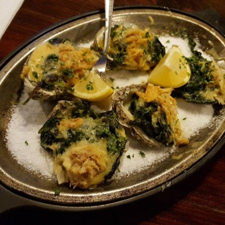Lake Ariel, Pensylwania: Roasted oysters