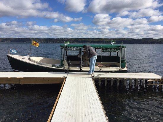 Ovid, NY: We're on a boat
