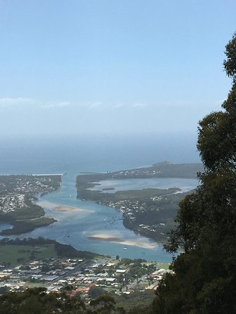 The view from North Brother of North Haven, Camden Haven Inlet & Laurieton.