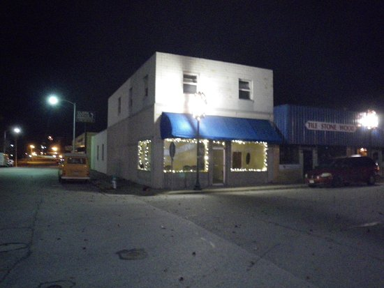 Harrison, AR: This was taken at our new office in the dark around Christmas.