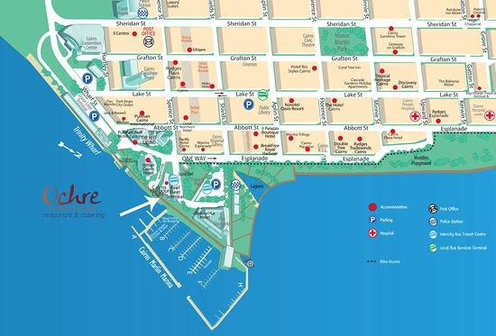 handy map - Picture of Ochre Restaurant, Cairns - TripAdvisor