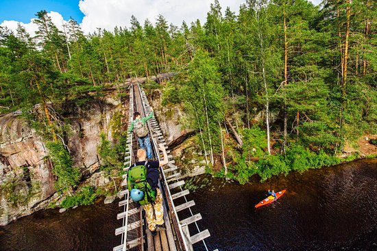 Kymenlaakso, Finland: Lapinsalmi Suspension Bridge