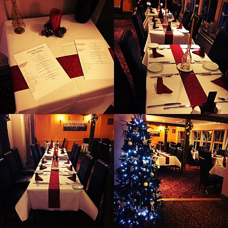 Wickwar, UK: Christmas tables at The Buthay