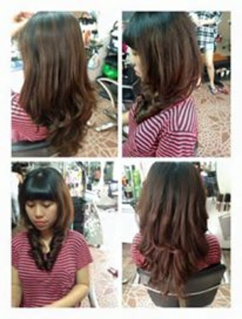 Curly Hair Before After Picture Of Hair Salon And Spa Angel