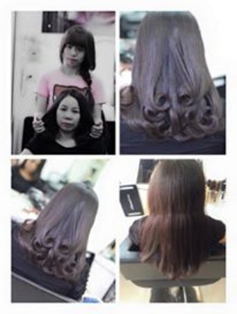curly hair before after foto de hair salon and spa angel nguyen
