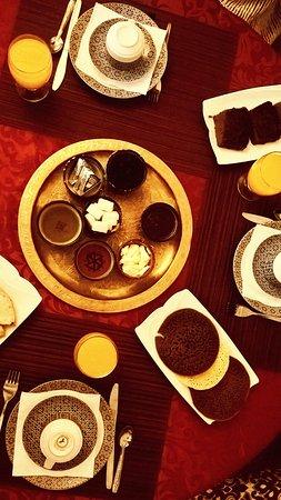 Riad Louna: petit déjeuner