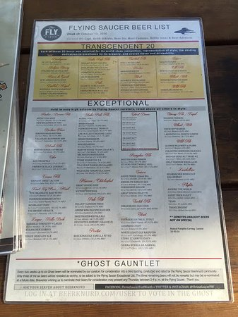 Beer Menu  Picture Of Flying Saucer Fort Worth  Tripadvisor