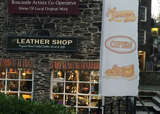 Boscastle, UK: Leather Shop
