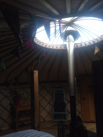 Dolanog, UK: Inside our wonderful yurt
