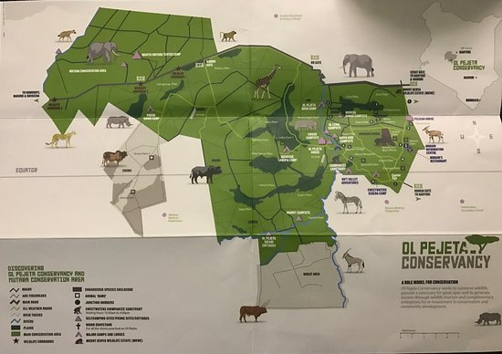Map of Pejeta Picture of Ol Pejeta Conservancy Laikipia County