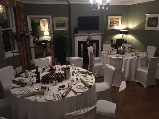 The Westwood Hotel: Our Christmas party tables.