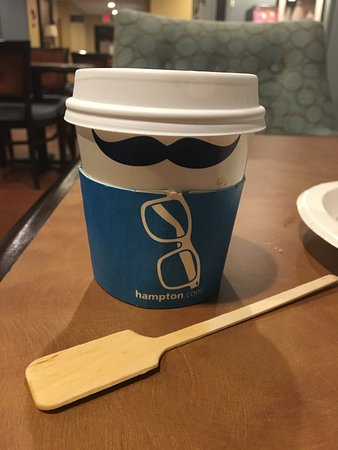 ‪‪Utica‬, نيويورك: Hampton Coffee Cup with REALLY NICE stirrer!‬