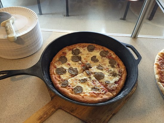 Ship Bottom, NJ: Meatball Cast Iron Pizza!