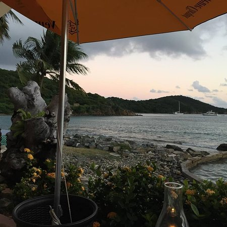 Frenchtown, St. Thomas: The view from table 81.