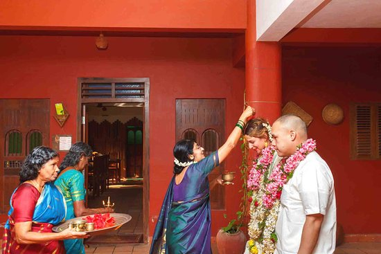 Shravanam Greens: Post wedding ritual at SG - Bride n Groom with Hosts
