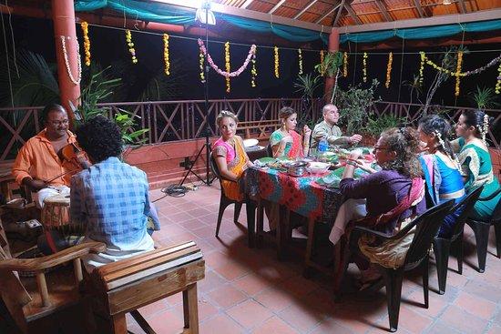 Shravanam Greens: Dinner at Rooftop garden