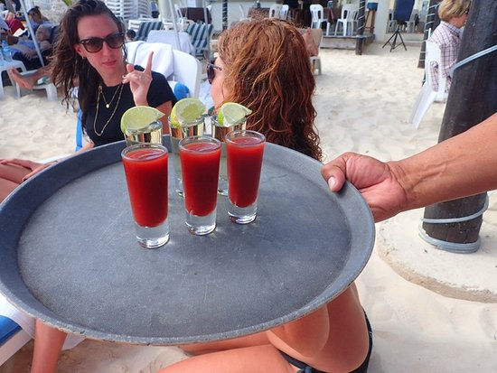 Playa Maya: Sangrita and tequila