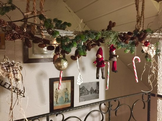christmas decorations at the plattenbuehl always a cozy place for a get together a